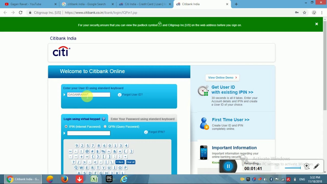 Citibank Online Sign In >> Citi Bank Credit Card Amount Covert In Emi Online Option Available