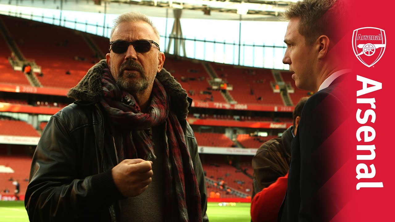 "Kevin Costner - ""Arsenal is my team"" - YouTube"