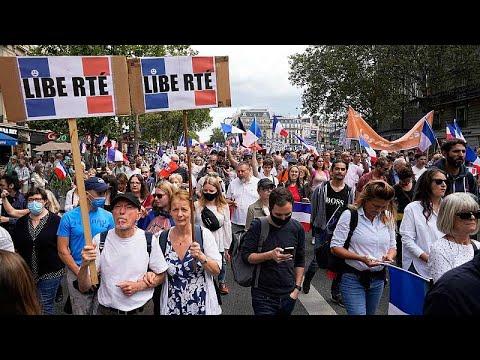 عشرات آلاف المتظاهرين في فرنسا احتجاجا على الشهادة الصحية…  - 22:54-2021 / 7 / 31
