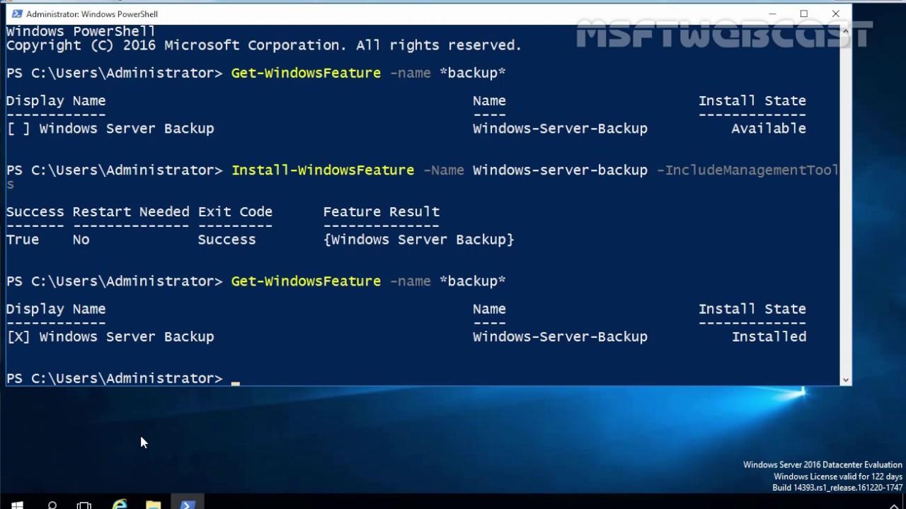 33  How To Backup Windows Server 2016 using Windows Server Backup