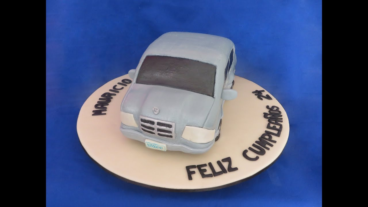 Queque mercedes how to make a mercedes car cake youtube for Mercedes benz cake design
