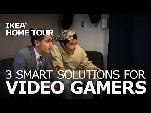 Game Room Ideas: Video Game Storage - IKEA Home Tour