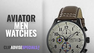 10 Best Selling Aviator Men Watches [2018 ]: Aviator AVW2044G292 Mens Watch