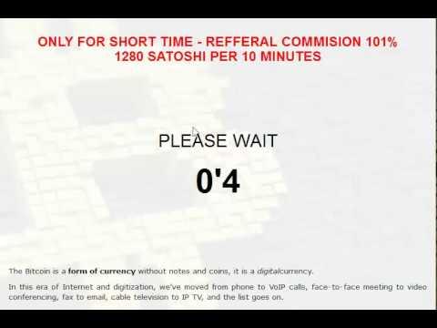 موقع جديد لربح- بيتكوين - تربح منه 1280 ساتوشي كل عشر دقائق.
