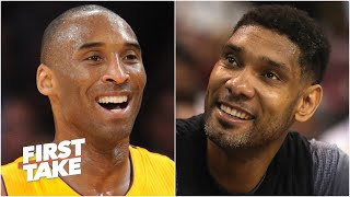 Kobe Bryant vs. Tim Duncan: Which Hall of Famer had the better career? | First Take