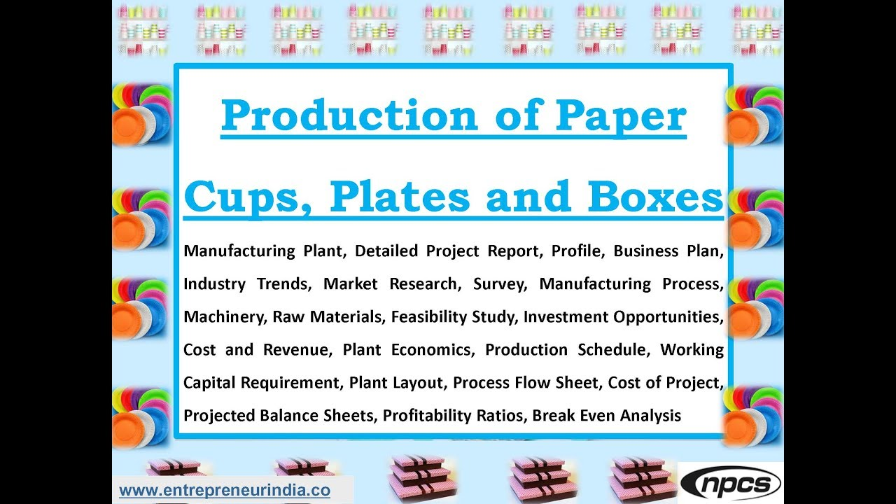 Production of Paper Cups Plates and Boxes  sc 1 st  YouTube & Production of Paper Cups Plates and Boxes - YouTube