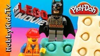 PLAY-DOH The LEGO Movie How-to Bricks Batman Emmet Wonder Woman by HobbyKidsTV