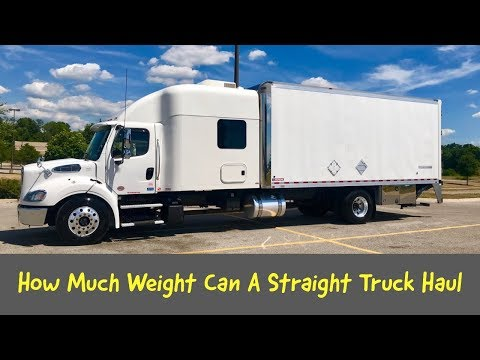 How Much Weight Can A Straight Truck Haul Youtube