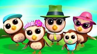 Семья Сов Фингер Детские Стишки Для Детей Детские Песни Nursery Rhyme Owl Finger Family