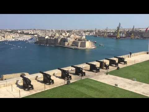 Full Gun (Cannon) Shooting Ceremony Malta Valletta 2016