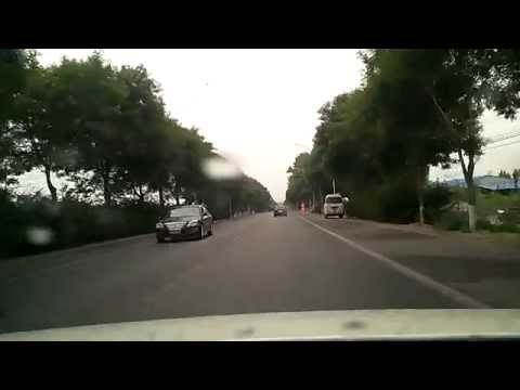 Drive in China daily road ,from LangFang to XiangHe