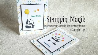 Party Pandas Birthday Card ~ Stampin' Up!