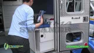 Optima Steamer - sanitizing & disinfecting ambulances (medical equipment)