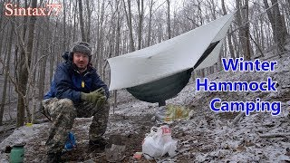 Winter Hammock Camping in the Smoky Mountains - High Winds, Snow & Rain
