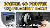 3D printer filament counter use hacked PS/2 mouse - YouTube
