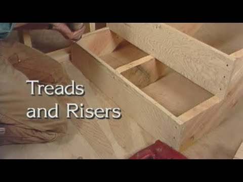 Treads and risers for stairs