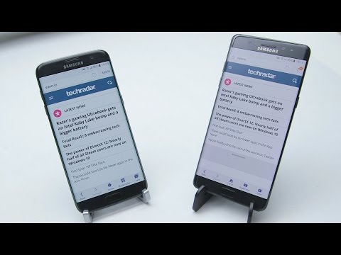 Samsung Note 7 'pre recall' vs Samsung Galaxy S7 Edge - Battery Test