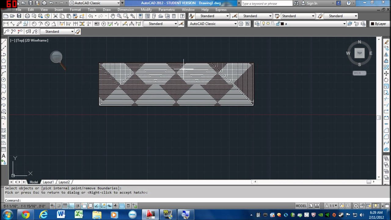 how to create a hatch in autocad