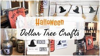 DOLLAR TREE HALLOWEEN DIY | 3 HALLOWEEN CRAFTS