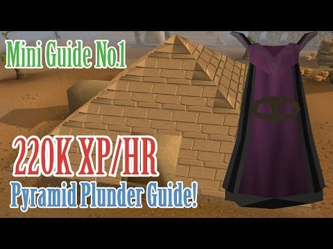 Pyramid Plunder Mini Guide! :D 220K XP AN HOUR (99 Thieving Fast Method)