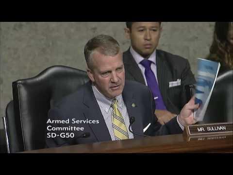 Sen. Dan Sullivan (R-AK) at a Senate Armed Services Committee Hearing - June 15, 2017