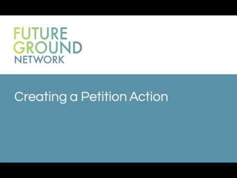 2. Setting up a petition action