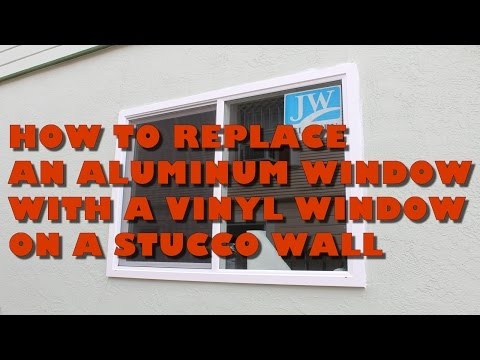 How To Replace An Aluminum With a Vinyl Window  On A Stucco Wall: A One Man Job!