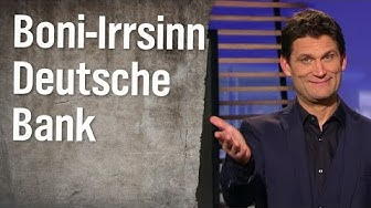 Christian Ehring: Deutsche Bank - rote Zahlen, fette Boni | extra 3 | NDR