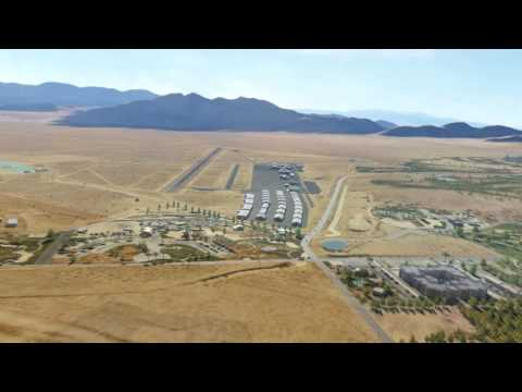 DCS: NEVADA Test and Training Range Map, Extension Pack Airfields