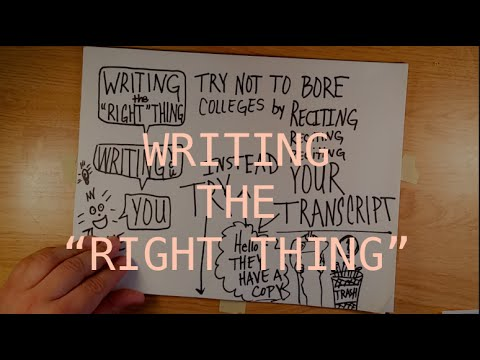 Writing the Right Thing Tips on Writing Scholarship/College Essay
