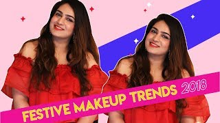 How To Do Graphic Blue Liner And Candy Lips | Festive Makeup Trends 2018 | Hauterfly