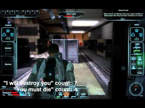 Typical Battle Scene In Mass Effect