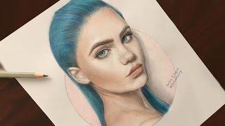 Ucuz Kalemlerle En Gerçekçi Nasıl Boyayabilirsiniz? How To: Portrait Coloring with Cheap Pencils