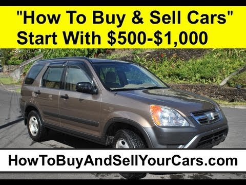 how to buy and sell cars for profit with 50000