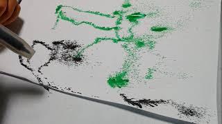 #불어펜 으로 그린 #나무괴물 과 #바다괴물 #남아미술…