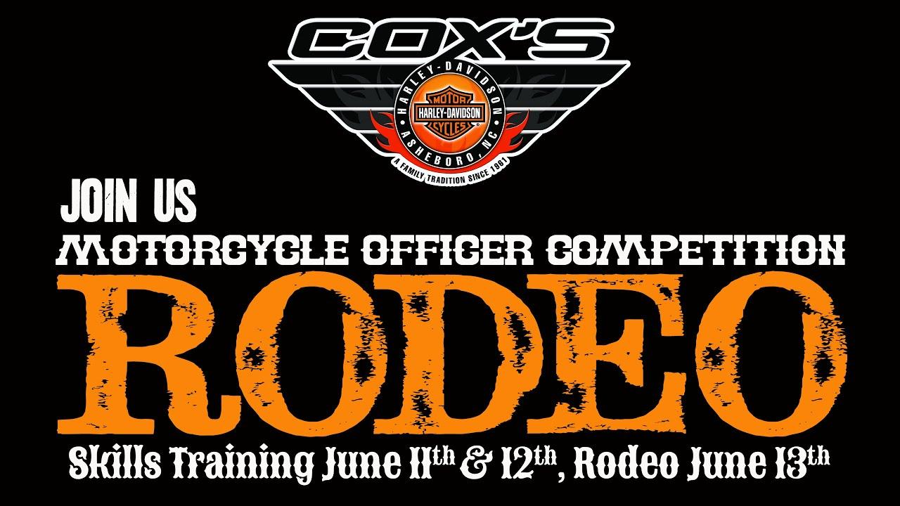 cox's harley-davidson police motorcycle skills training june 11-13