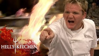 THE DUCKS BURNT YOURE COOKING IN A BURNT PAN  Hells Kitchen