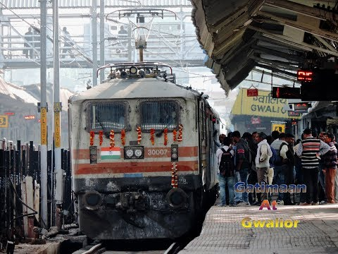 First On Youtube | Inaugural Gatimaan Express Arrival And Departure At Gwalior | Indian Railways