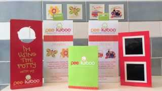 pee-kaboo reusable potty training sticker™