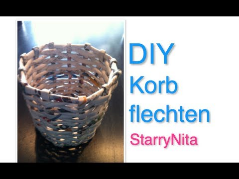 diy aufbewahrung korb youtube. Black Bedroom Furniture Sets. Home Design Ideas