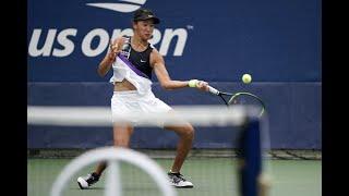 Caroline Dolehide vs. Wang Qiang  | US Open 2019 R1 Highlights