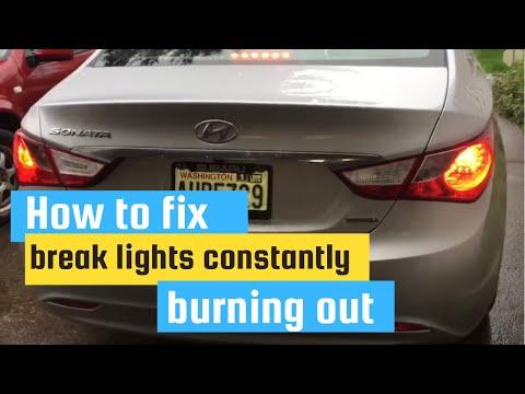 how to fix brake lights constantly burning up (hyundai  2013 hyundai sonata wire diagrams