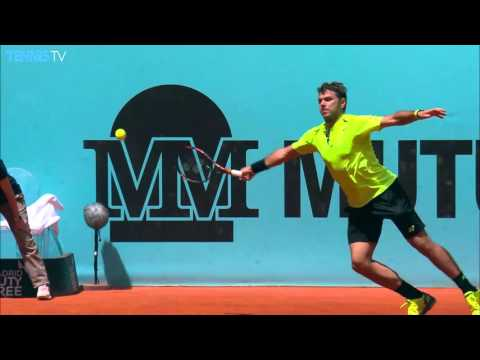 2016 Mutua Madrid Open: Wednesday Highlights inc. Wawrinka Djokovic Nishikori