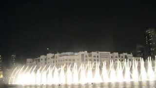 Dubai Mall dancing illuminated fountains (good quality): Arab music