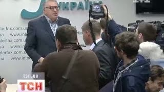 Жириновского в Киеве забросали кислой капустой