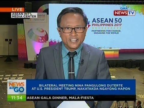 NTG: Bilateral meeting nina Pangulong Duterte at U.S. President Trump, nakatakda ngayong hapon