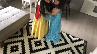 Elsa ve prensesin dansı #kostümpartisi #çocukoyunları #barbie #celsea