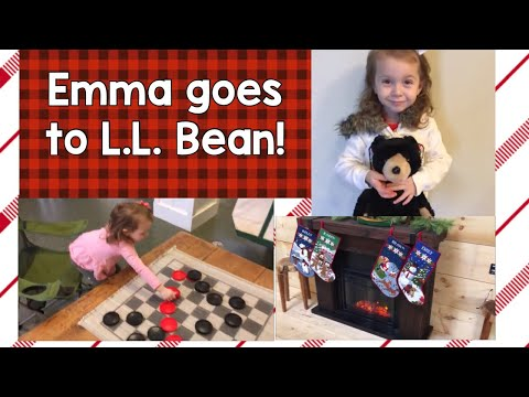 Emma Goes To L.L. Bean in Freeport, Maine! Holidays 2019 (kid friendly store)