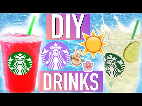 DIY SUMMER STARBUCKS DRINKS! #TumblrMySummer