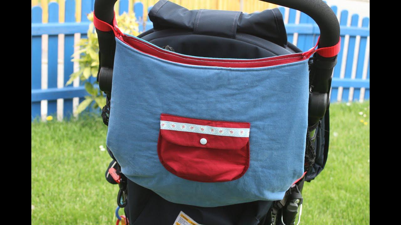 Kinderwagentasche nähen mit kostenlosem Schnittmuster - YouTube